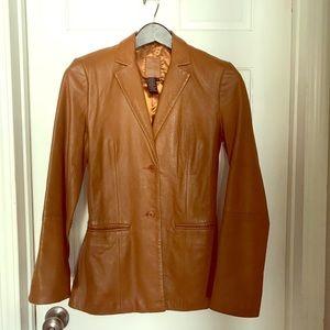 BCBG Maxazria leather blazer